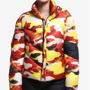 Artistix Orange Camo Puffer Jacket, Medium